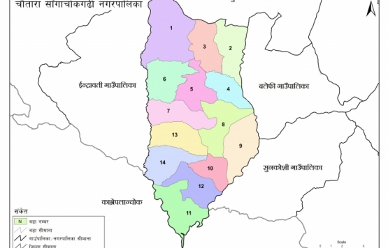 हालको चौतारा साँगाचोकगढी नगरपालिका नक्शा